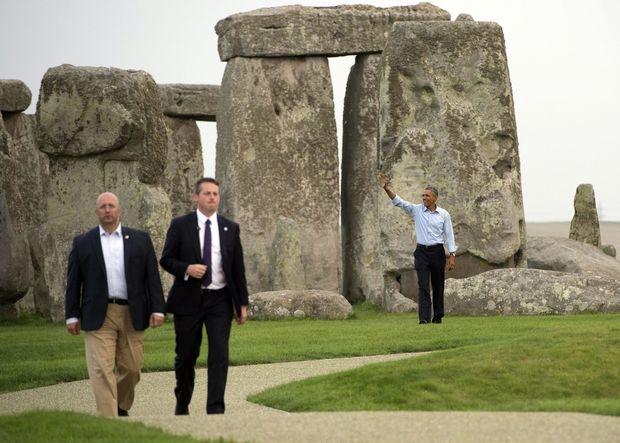 Obama a Stonehenge