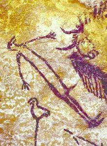 uomo-uccello (sciamano?) - Lascaux
