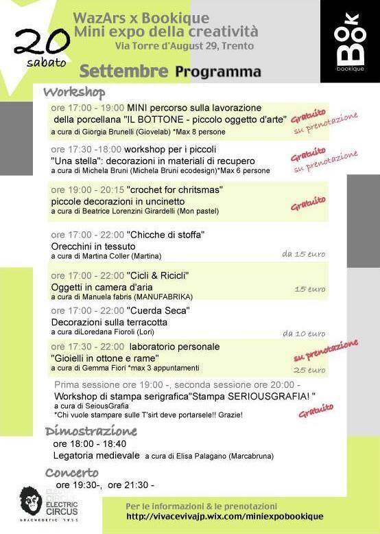 programma seconda edizione miniexpo