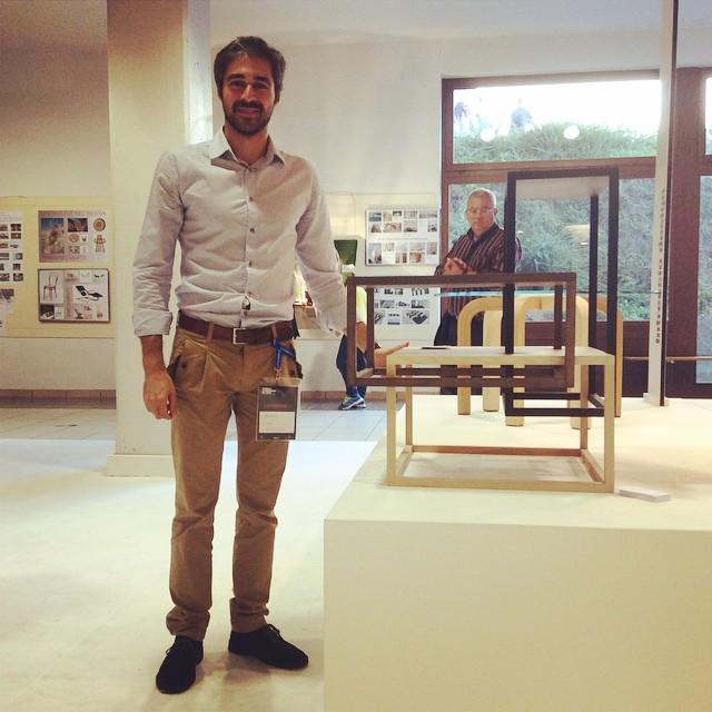 Ivan Muscolino, vincitore del concorso della Triennale Internazionale del Legno