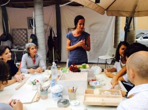 Giorgia Brunelli and her pottery workshop during the 2nd Mini Expo WazArs