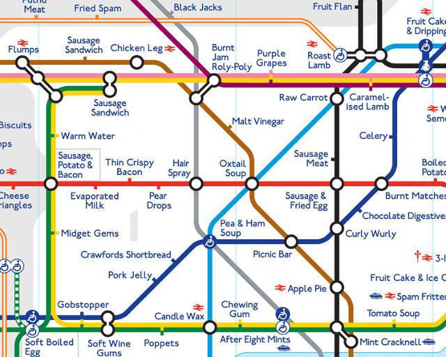 London Underground stations taste like this