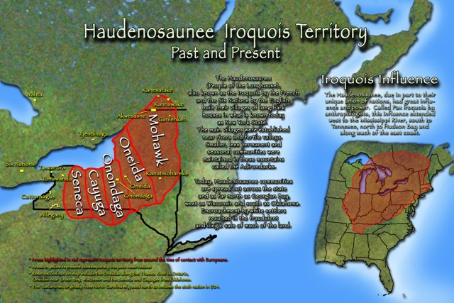 Map of Iroquois past and present