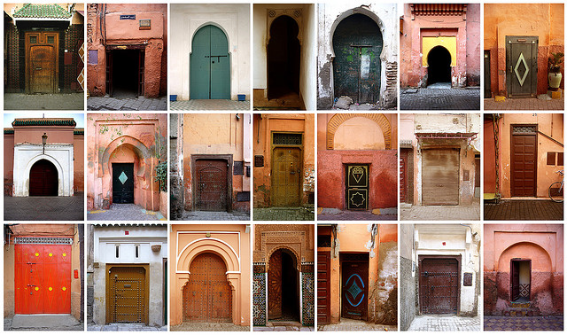 The doors of Marrakech, by get down (Flickr, CC BY-NC-ND 2.0)