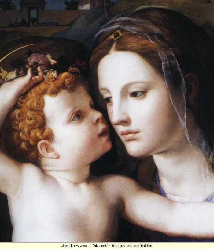 Agnolo Bronzino, Madonna col Bambino e santi (particolare)