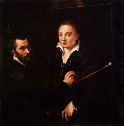 Sofonisba Anguissola - Bernardino Campi mentre ritrae Sofonisba Anguissola