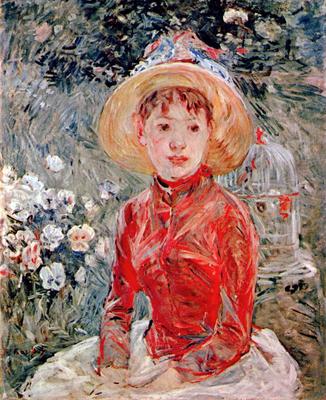 Berthe Morisot - Jeune fille avec cage