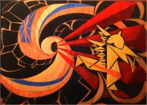 """""""La guerra"""" by Giacomo Balla, 1916"""