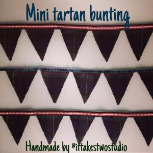 mini tartan bunting