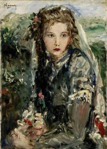 Náray Aurél - Donna con rose
