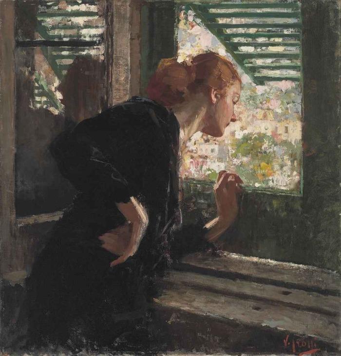 Vincenzo Irolli - Donna alla finestra