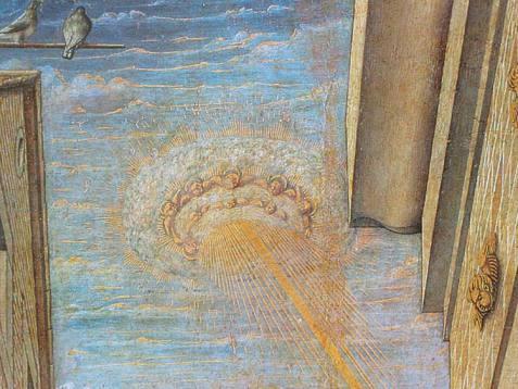 """Dettaglio della nube luminosa - """"angeli"""""""
