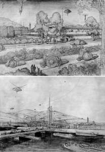 Broadacre City, by Frank Lloyd Wright