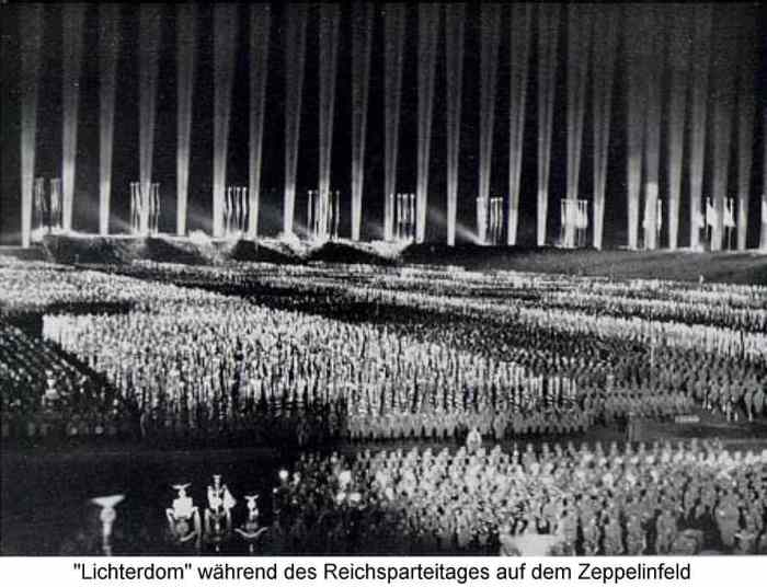 Cathedral of Light at a Nuremberg Rally